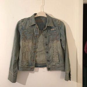 Hydraulic Denim Jean Blue Jacket Distressed Wash